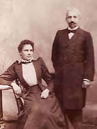 M. Louis W. Grasset with his Australian wife Hannah Burville