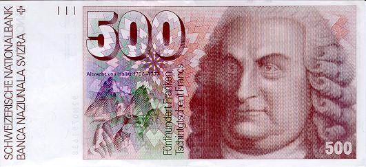 banknote-500-swiss-francs-albrecht-von-haller-1993